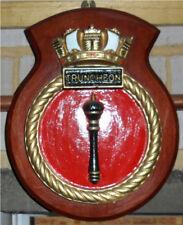 HMS TRUNCHEON SHIPS CREST or PLAQUE - ROYAL NAVY T CLASS SUBMARINE