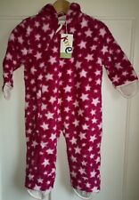 NEW Kite 18-24 Mths All-in-one Fleece Baby Girl Organic Cotton Pram Suit cosy