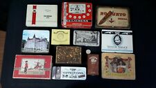 LOT BOITE METAL CIGARES CIGARETTES TABAC ANCIEN OLD TIN