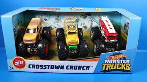 Mattel Hot Wheels Monster Trucks 3er-Pack All Beefed Up - Hound Hauler - 5 Alarm