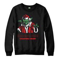 Star Wars Christmas Jumper, Merry Xmas Yoda Festive Adult & Kids Jumper Top