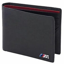 BMW ///M Power Black Genuine Leather Bifold Wallet OEM 80210435794