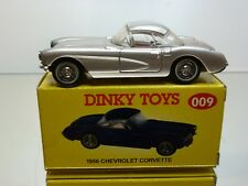 DINKY TOYS CODE 2 MODELS 009 - CHEVROLET CORVETTE 1956 - 1:43 - EXCELLENT IB