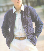 """Wonderful All Over Cabled Aran Cardigan 36"""" - 38"""" Knitting Pattern"""
