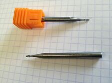 2mm Tungsten Carbide End Mill 3 Flutes H40° Especially for Aluminium