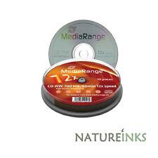 10 MediaRange Cd-rw 12x Graveur disques Vierges Haut / Ultra vitesse