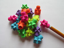 72 STAR ERASERS pencil top erasers SCHOOL BIRTHDAY PARTY favors FREE SHIP