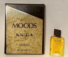 Krizia MOODS UOMO For Men EAU DE TOILETTE Splash Mini Miniature .17 oz NEW NIB