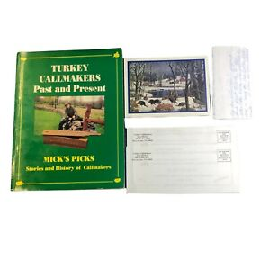 Book Turkey Callmakers Past and Present Earl Mickel Signed Personal Letter Card