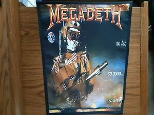 MEGADETH,SO FAR, SO GOOD..SO WHAT,SEW ON SUBLIMATED LARGE BACK PATCH