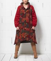 100% Cotton Sidetail Coat Size UK 12 Ladies Wine & Orange Jacket BNWT #C-40
