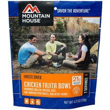 1 - Mountain House Freeze Dried Food Pouches - Chicken Fajita Bowl - New Item