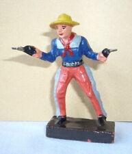 Wildwest - Figur aus Masse : Cowboy mit 2 Pistolen von LEYLA