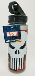 Marvel Comics Punisher Water Bottle W/Straw 20oz. BPA Free New!