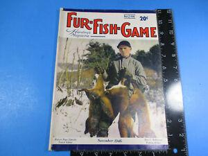 Vintage Fur-Fish-Game Magazine October 1946 Lake Troutt 3 Chews 3 Convoys M6827