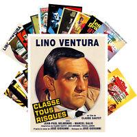 Postcards Pack [24 cards] LINO VENTURA Vintage Movie Posters CC1341