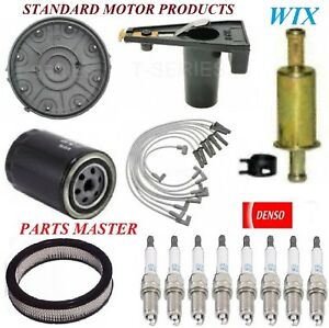 Tune Up Kit Filters Cap Spark Plugs Wire For FORD CUSTOM 500 V8 6.6L 1977