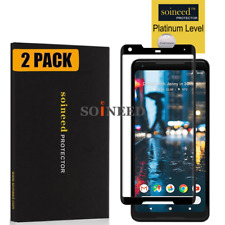 【2-Pack】SOINEED Google 【Pixel 2 XL】3D Full Cover Tempered Glass Screen Protector