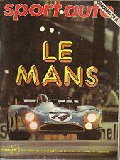 SPORT AUTO 137 1973 24H MANS MATRA BAGHEERA GP ESPAGNE EAST AFRICAN SAFARI MONIC