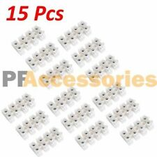 15 Pcs 10A 380V Dual Row 4 Positions Terminal Strip Block Wire Connector Barrier