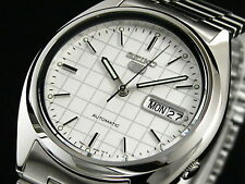 Seiko 5 Men's SNXF05K Stainless Steel Automatic Day Date Watch