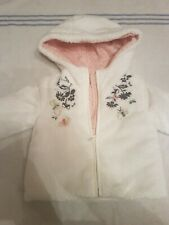 Catimini Baby Girls Soft White Faux Fur Jacket.Age 18 Months.