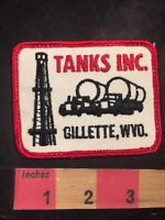 Vintage Gillette Wyoming TANKS INC. Advertising Patch 91NF