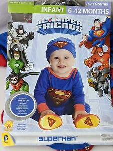 Rubie's Superman Infant Costume 6-12 Months Blue/Red Halloween Toddler Outfit B
