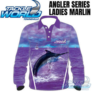 Tackle World Angler Series 2020 Fishing Shirt Ladies Marlin BRAND NEW
