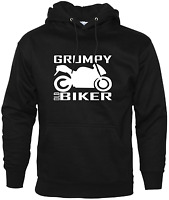 Grumpy Old Biker Mens Funny Hoodie For Bikers Motorbike Accessories Xmas Gifts