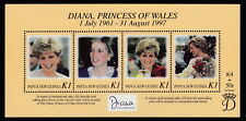 Papua New Guinea 1998 Diana, Princess of Wales souvenir sheet