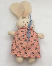 muslin fabric small handmade stuffed bunny rabbit shabby chic country decor
