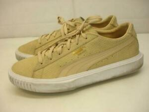 Men's 9 M Puma Breaker Natural Tan Pebble Suede Leather Shoes Sneakers 366077 03