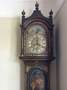 8 day grandfather clock chinoiserie
