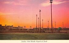 DALLAS-FORT WORTH AIRPORT View at Dusk, Texas Sunset ca 1960s Vintage Postcard