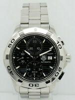 Mens Tag Heuer Aquaracer CAP2110 Chrono/Date Black Dial Quartz 44mm Watch
