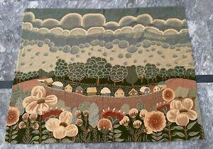 Vintage Handmade Aubusson Rug Needle Point Pictorial Wool Kilim Area Rug Carpet