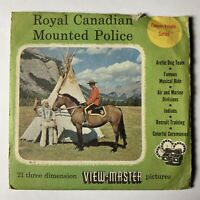 Vintage Sawyers Royal Canadian Mounted Police Viewmaster 3 Reels 1956