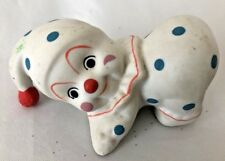 "Humor 3"" Clown in White Dotted Suit Knealing Figurine"