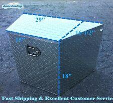 Aluminum Tool Box Truck Tongue Diamond Trailer Storage Towing Tractor Bed Lock