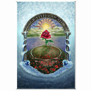 TA65 Mike DuBois Grateful Dead Steal Your Face Rose Garden Cotton Tapestry