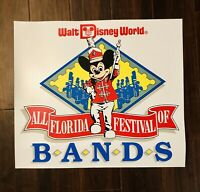 "VTG Walt Disney World All Florida Festival Of Bands 24""X21"" Magnet Tarp HTF!"
