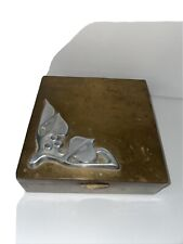 Sterling on Bronze Cigar Box Humidor Wood Lined Art Deco