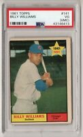 1961 Topps #141 Chicago Cubs HOF VINTAGE CARD Billy Williams PSA 3 VERY GOOD
