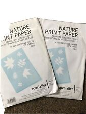 Nature Print Paper Specialist Crafts 30 Sheets X2 G25