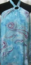 Lane Bryant Paisley Blue Print Halter Top And Matching Skirt 26