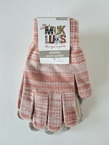 3 Pair Pack Muk Luks Women's Magic Gloves Assorted Colors One Size New