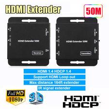 1080P 50M HDMI HDCP IR Extender IR Control RJ45 Cat5e/6 Cable Splitter Adapter