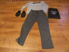QATAR AIRWAYS BUSINESS PYJAMA SET WITH SLIPPERS BY THE WHITE COMPANY NEW SIZE L