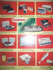 PUBLICITE DE PRESSE RADIOLA TRANSISTORS ELECTROPHONE TV RASOIR FRENCH AD 1966
